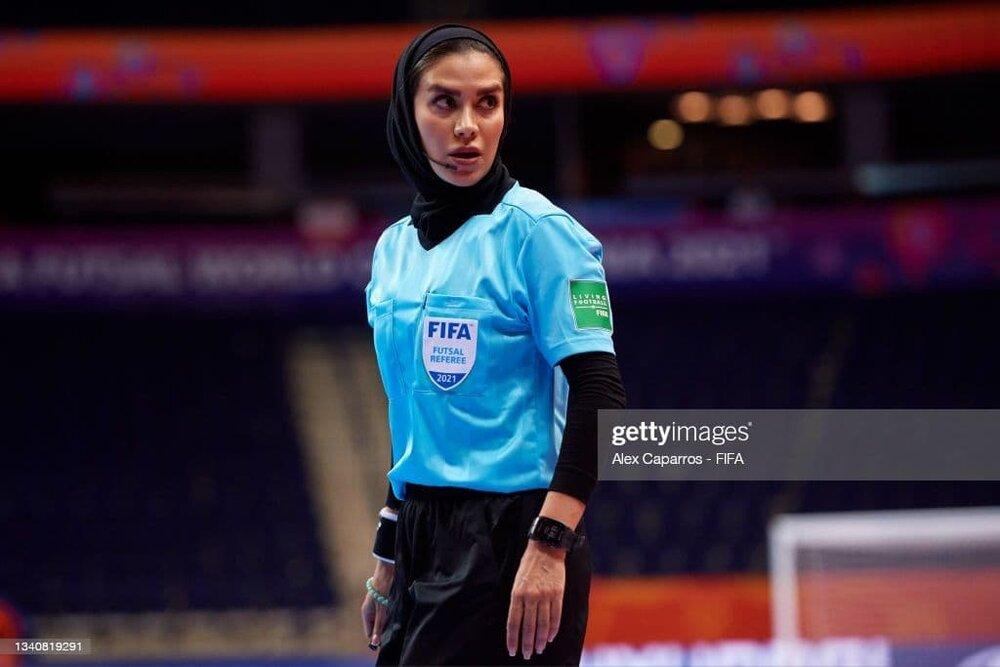 تصاویری از داوری جذاب بانوی ایرانی در جام جهانی فوتسال