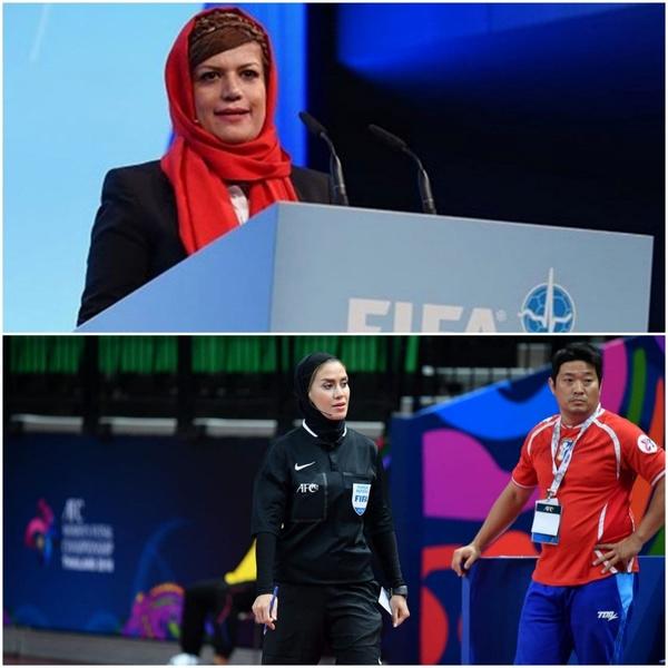 داور زن ایرانی و پزشک زن ایرانی در جام جهانی