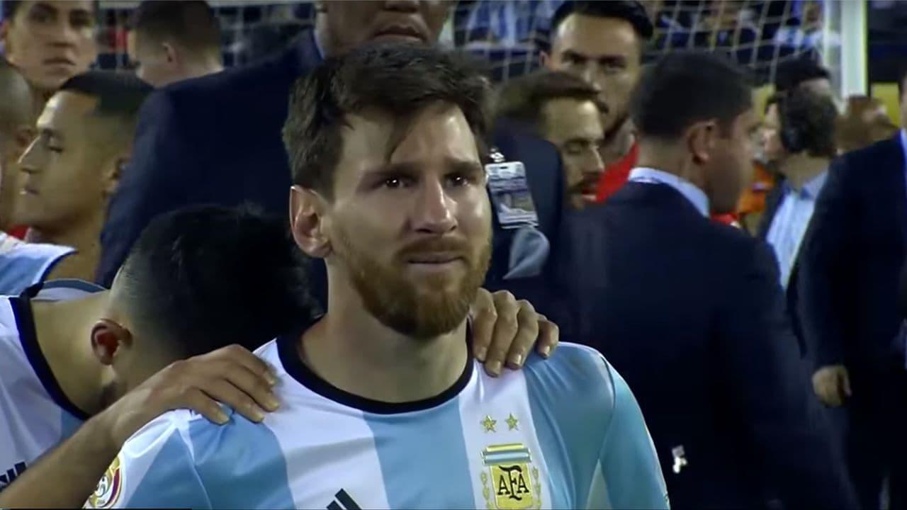 اشک های غم انگیز لیونل مسی