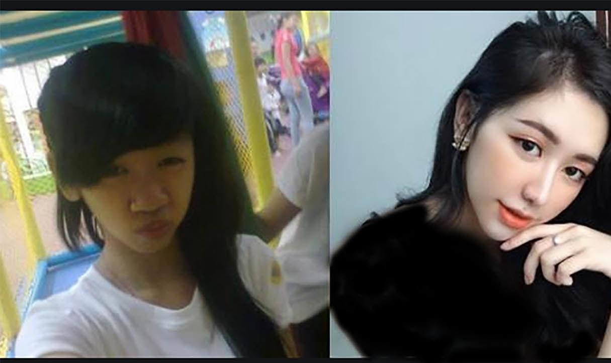 تغییر+چهره+ناگهانی+یک+دختر