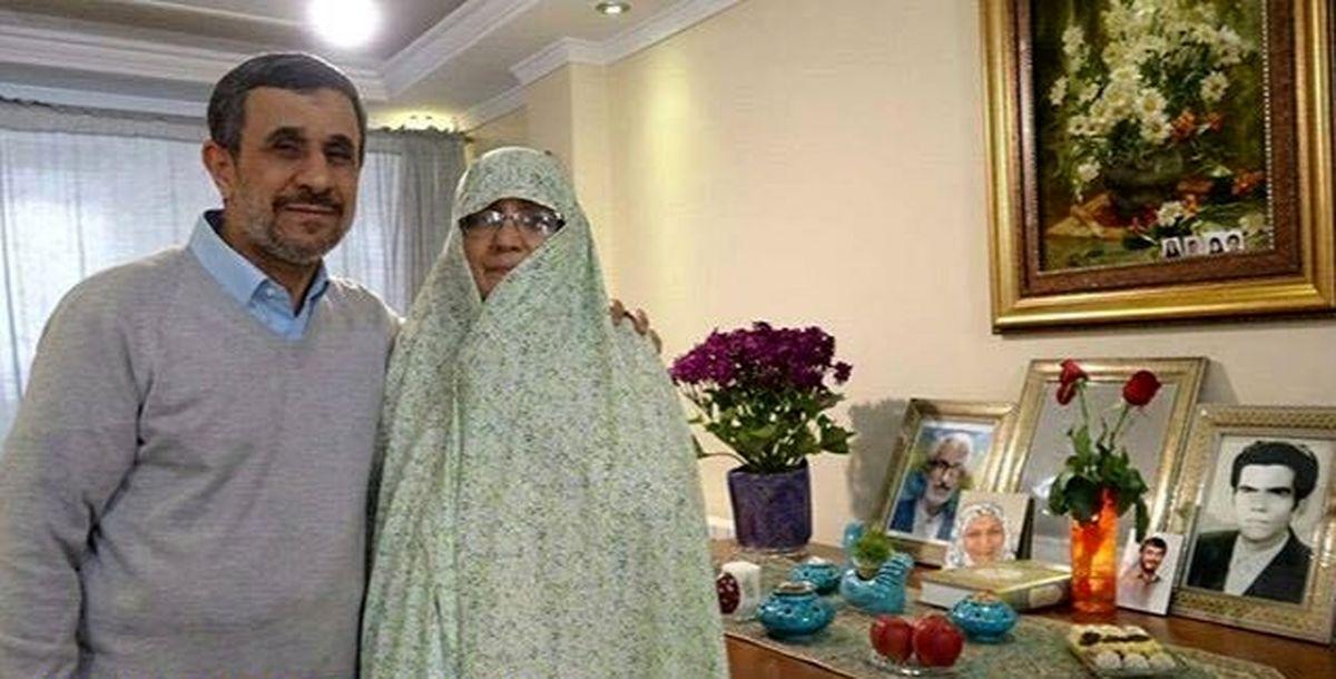 عکس دیده نشده از احمدی نژاد و همسرش در دبی