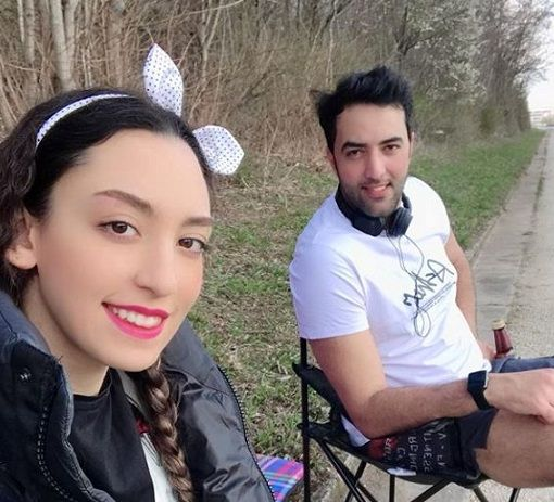 جدیدترین عکس بی حجاب کیمیا علیزاده در کنار همسرش