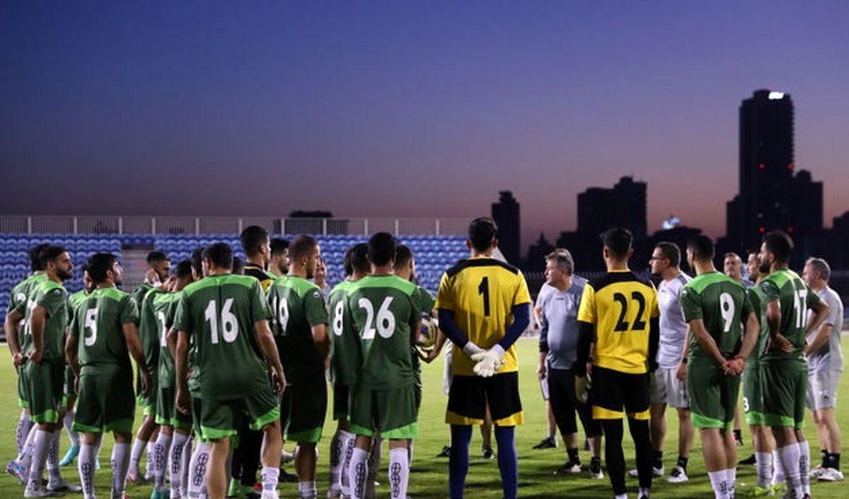 اولین تمرین تیم ملی فوتبال در بحرین برگزار شد