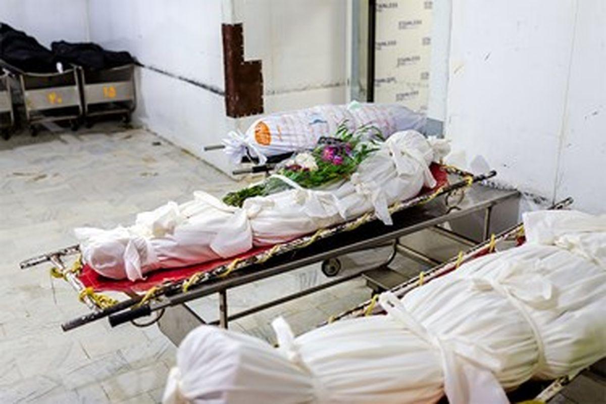 تصاویر تلخ 16+از غسالخانه فوتیهای کرونا در بهشت زهرا
