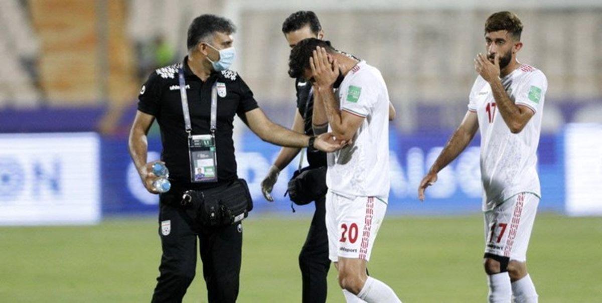 خبر بد ستاره تیم ملی بازی با عراق را از دست داد