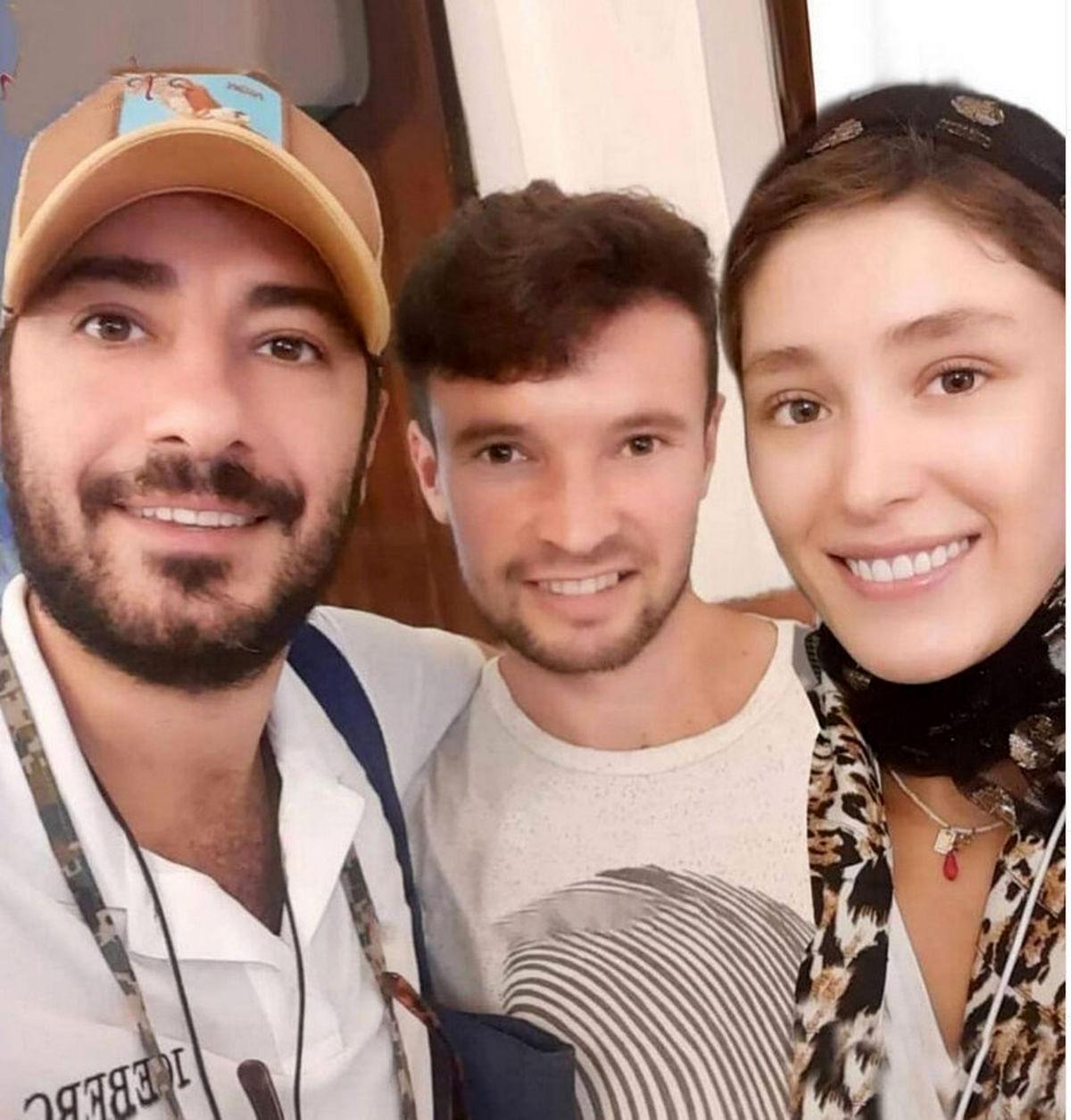 لباس جنجالی نوید محمدزاده در کنار خانم بازیگر