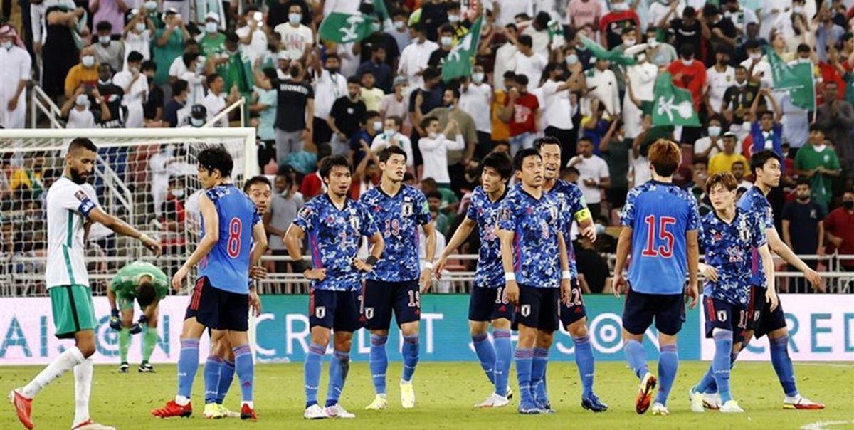 حرکت زشت هواداران عربستان مقابل کاپیتان ژاپن فیلم
