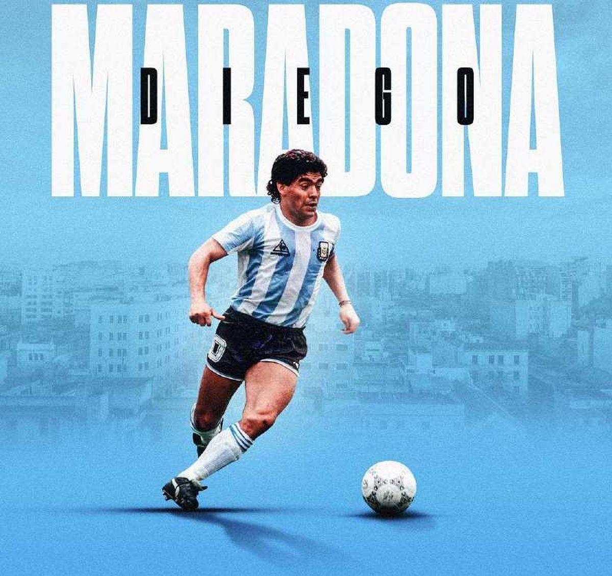 تصویر مارادونا روی بلندترین برج جهان+ فیلم