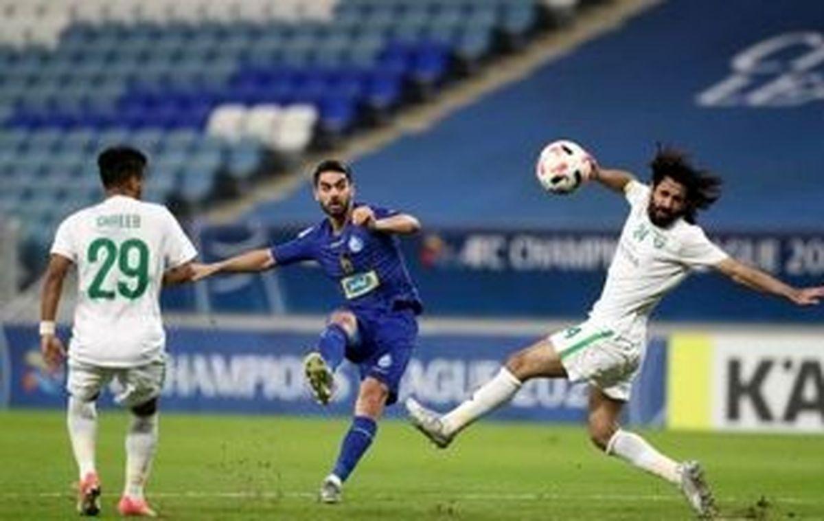 واکنش بازیکن الاهلی عربستان به تساوی مقابل استقلال