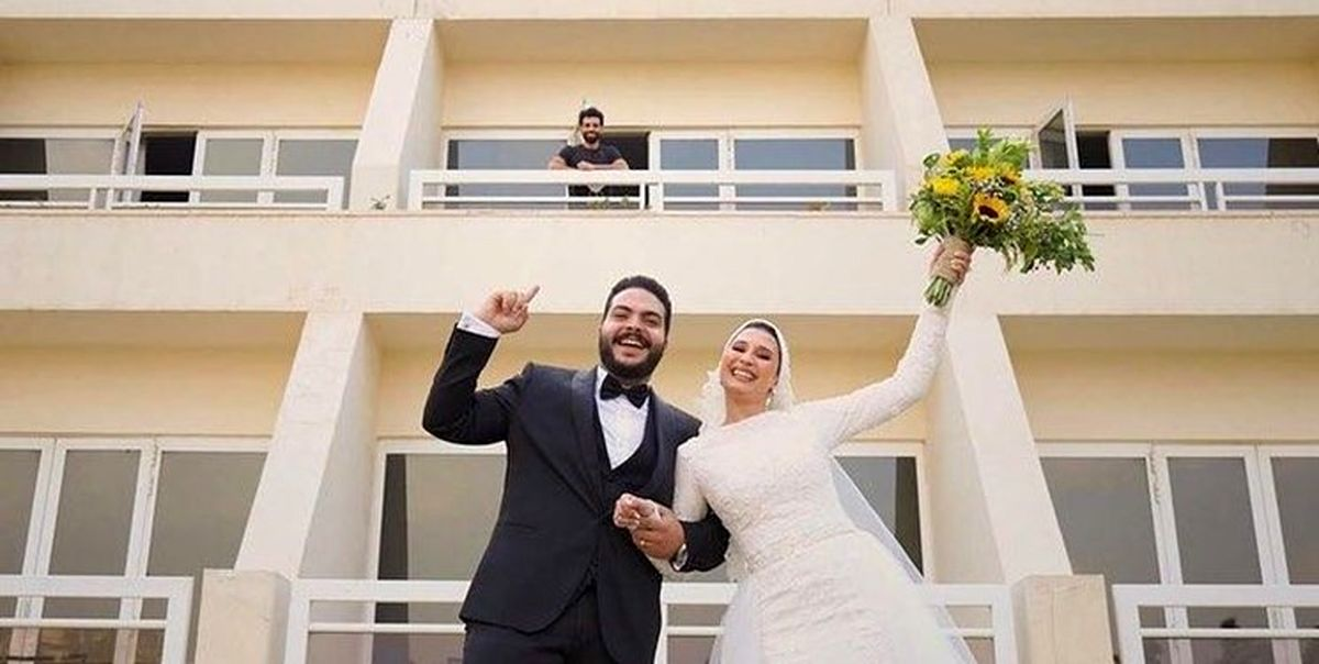 برادر صلاح و عروسش در محل قرنطینه محمد تصاویر
